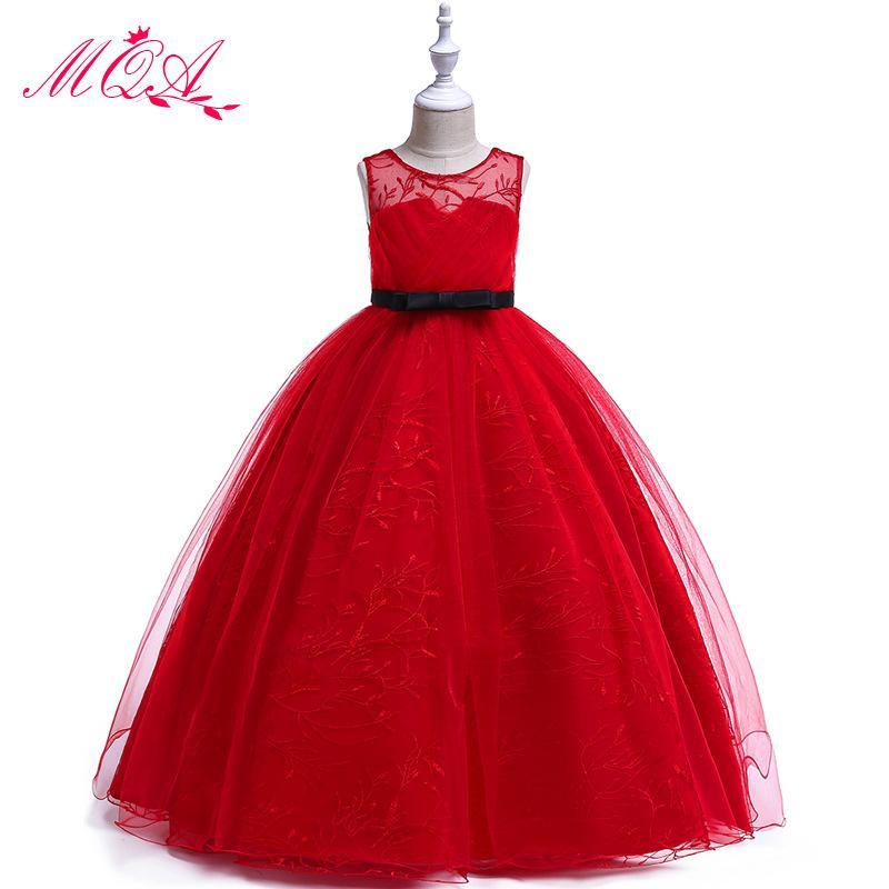 2019 abiti per bambini per le ragazze in pizzo da sposa soffici abiti in maglia ragazza festa vestito per bambini festa di compleanno 5-14 anni