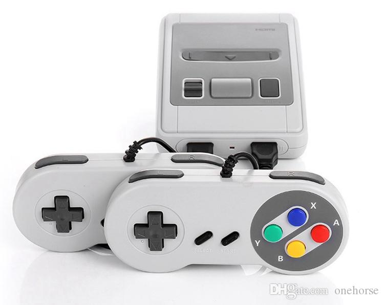 New Mini SFC Game Console AV Output SNES 500 Classic Video Games Can Connect to TV And For Two Players