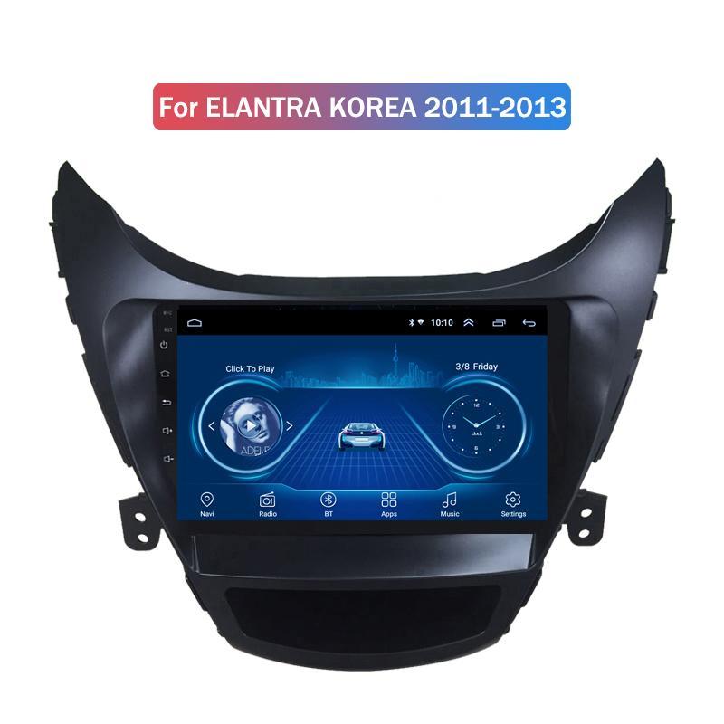 9 인치 안드로이드 (10) 자동차 네비게이션 라디오를 들어 현대 Elantra KOREA 2011-2013 자동차 DVD 플레이어 GPS를