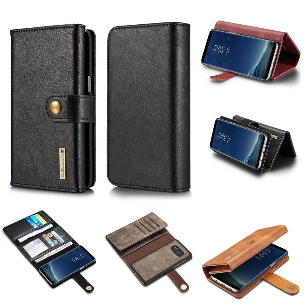 для Samsung Галактики С7 С8 С9 края плюс Примечание 8 Note8 чехол бумажник карты слоты роскошный кожаный PU откидная крышка чехол 3 раза