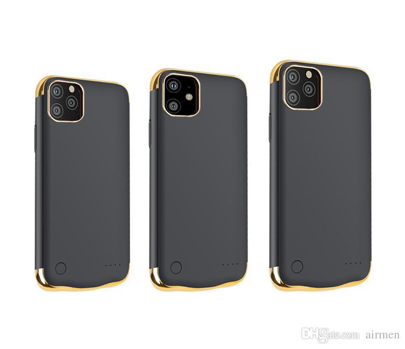 Caja de batería 6000mAh para el iPhone 11Pro Max para el caso del poder delgado caso del cargador del iPhone 11Pro iPhone11 prueba de golpes externos con cajas al por menor