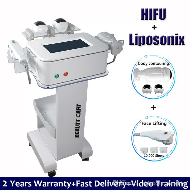 2021 Liposonix Body Slimming Shaping Machine HIFU Face Lifting Wrinkle Removal 2 IN 1 Fat Reduction Ultrasound Skin Tightening Device