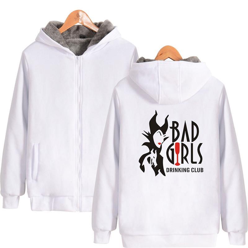 Bad Girls Hoodie Imprimer Hiver Mode Hommes Femmes Zipper Hoodies Vestes Poche À Manches Longues Harajuku Homme Sweats À Capuche Tops