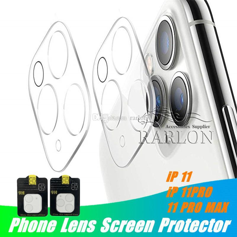 Pantalla lente del teléfono protector para el iPhone 11 MAX Pro XS XR trasera del caso 3D transparente hacia atrás la cámara templado película de la cubierta de cristal resistente a los arañazos