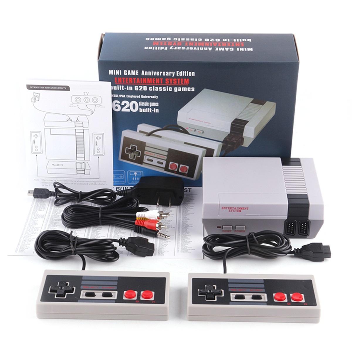 40 قطع الممرات ألعاب فيديو كوني مصغرة نيس الكلاسيكية الرجعية المحمولة لعبة وحدة التحكم 620 الألعاب يأتي مع ألعاب gamepad الأصلي للأطفال