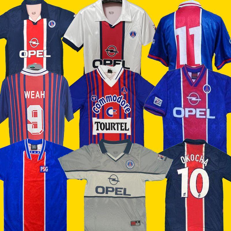 maillot 93 94 95 00 01 98 99 Retro soccer Jersey ANELKA OKOCHA WEAH GINOLA SIMONE camisas de futebol LEROY WORNS AVELAINE ADAILTON
