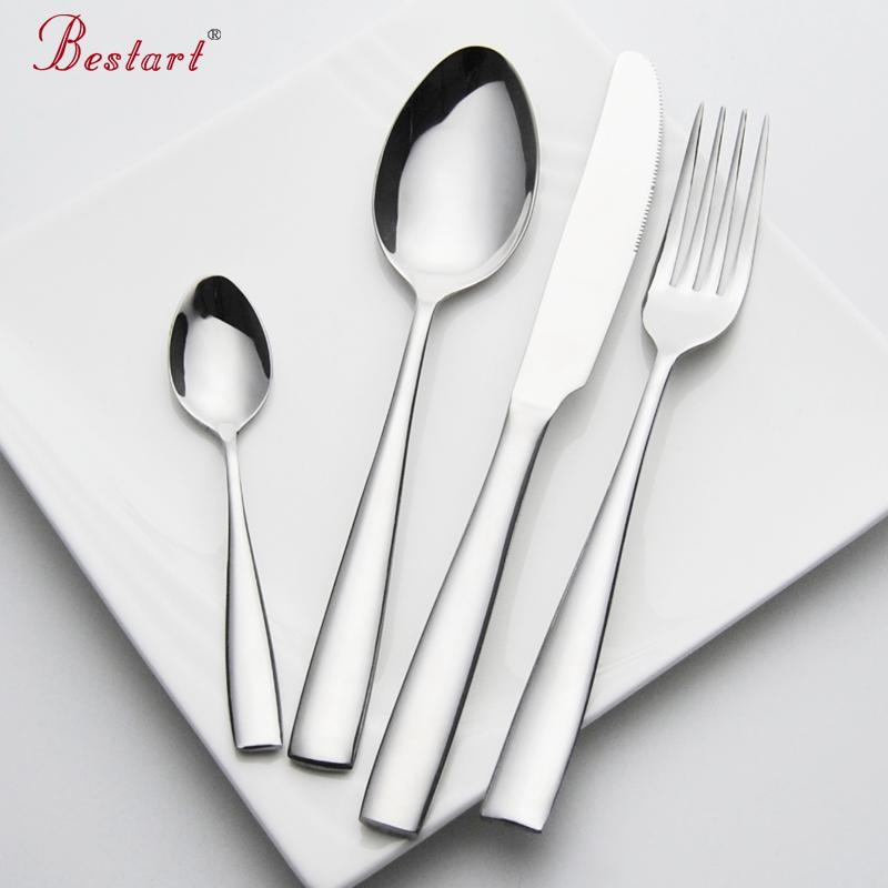 Set Cutlery Stainless Steel 24 pieces Service 6 Person Silver Knife Fork Set Restaurant Cutlery Dinnerware China Sets C18112701