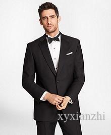 Erkekler için Düğün Takım Elbise Elbise Akşam Yemeği Damat Smokin Siyah Slim Fit 2021 Resmi Giyim