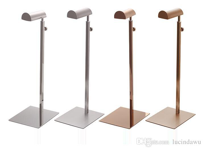 Handbag Display Stand Bag Display Holder Table Stand Hook Wig Hanging Shelf Rose Gold Metal Hat Rack Bag Hook Stand Bracket