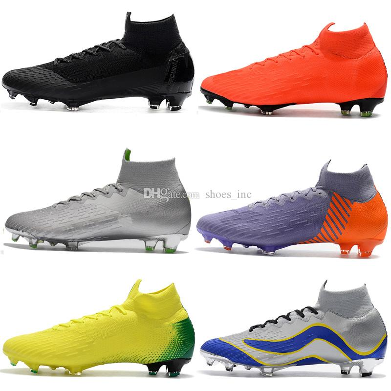 Mercurial Superfly Soccer Shoes For CR7 Ronaldo KJ VI 360 FG Mens Football Boot Ronaldo Men Soccer Cleats Size 39-46