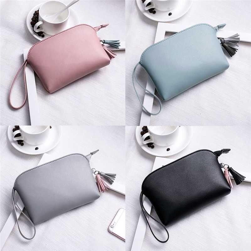 Новая сумка женщин сумка Кожа PU Сумочка сцепления Макияж сумка Портмоне Горячие сумки Casual Solid Color