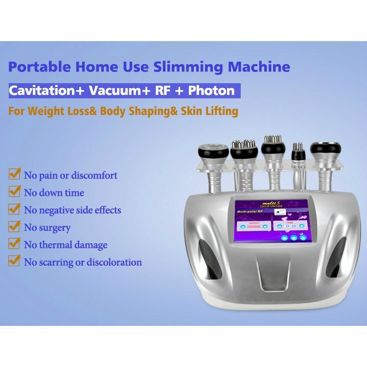 5 IN 1 Ultrasuoni grasso vuoto macchina perdita di peso dimagrante cavitazione a ultrasuoni RF ridurre l'uso domestico eliminazione della cellulite