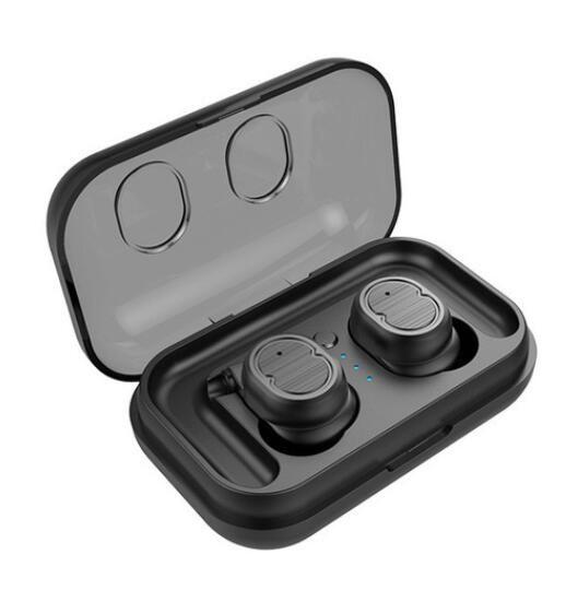 TWS-8 Touch Control Bluetooth 5.0 EDR Auricolari IPX5 impermeabile Vero Wireless auricolari Sport auricolare Mic Charging Box Earhook 1pcs