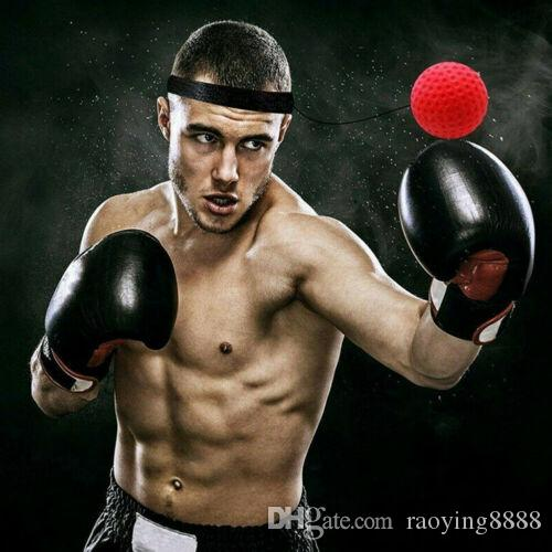 2019 New Boxing Geschwindigkeit Praxis Reaktion Ball Reflex Training Sport Kopf Band Speedball 1xFight Ball 1x Stirnband 1x Seil
