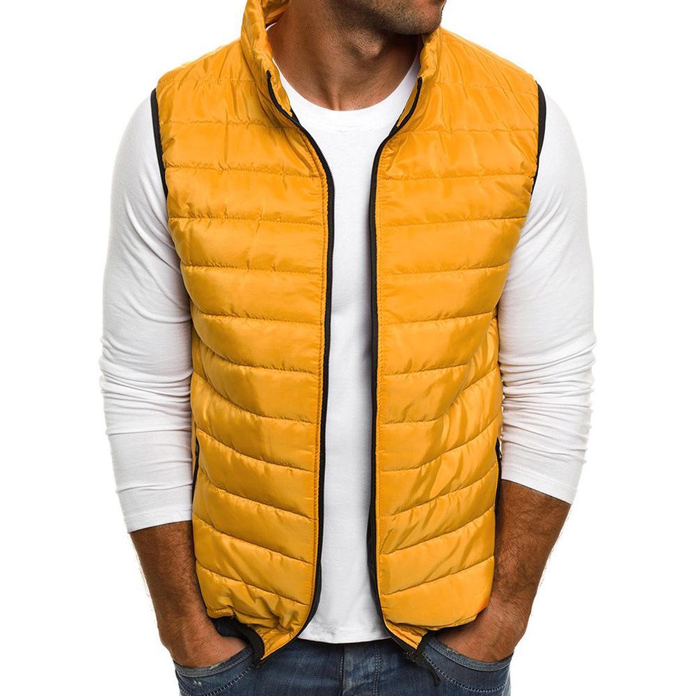 ZOGAA Mens Parka Vest Casual Outerwear Jacket Vests Coat Men Sleeveless Waistcoat Mens Parka Jackets Zipper Coat Man Clothing
