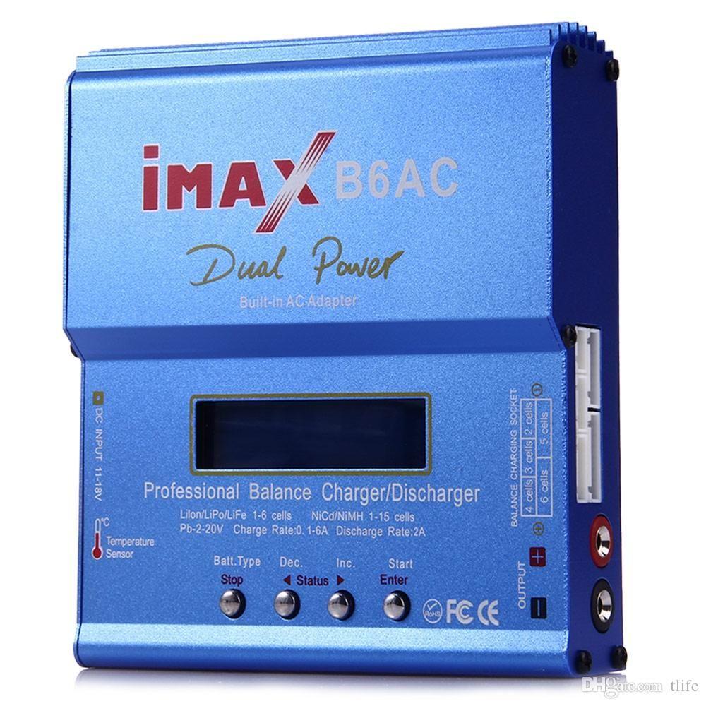 IMAX Original B6AC RC Carregador de Bateria de Equilíbrio B6 AC 80 W Nimh Nicd Bateria de lítio Equilíbrio Carregador Descarregador com Tela LCD Digital Hot + B