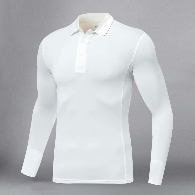 2020 Nouveau mode T-shirt décontracté à manches longues Slim Basic Shirt Men Homme Chemise de golf Courir T-shirt Vêtements de remise en forme
