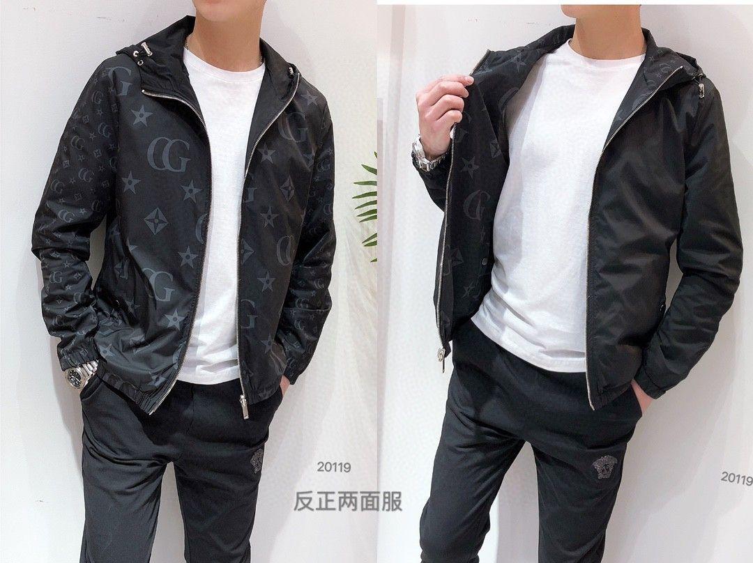 2020 высокое качество мужская куртка осень повседневная с длинными рукавами пальто модный современный стиль куртка R4PI