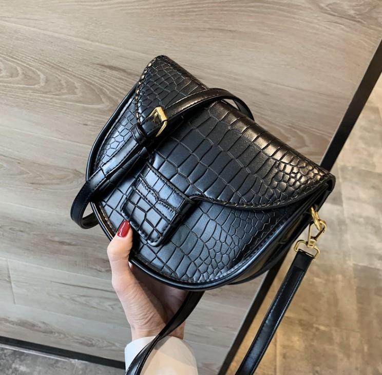 Designer Sac à main femme Mode uni Sac alligator selle design de luxe de haute qualité haute Crossbody fille épaule bagss #