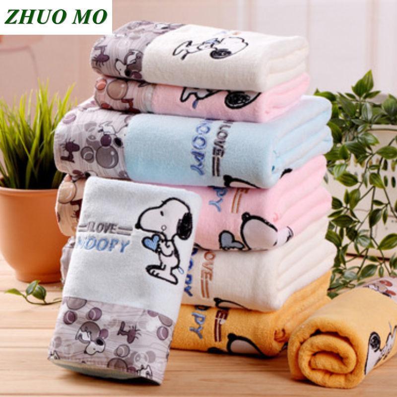 Zhuo Mo 3-х частей Быстросохнущий мультфильм Набор полотенец из микрофибры Банное полотенце Face Beach Towel 450 г Водопоглощающие Toallas Для Ванной Y19062803