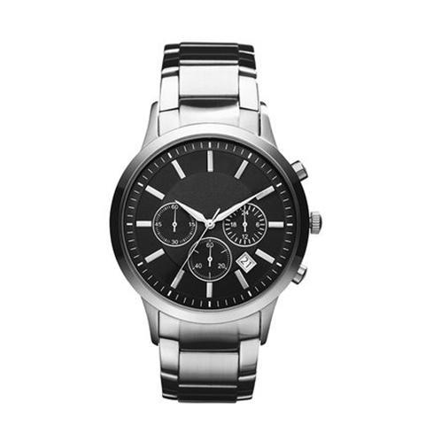 Dell'acciaio inossidabile della vigilanza Top 2019 Uomo di marca di modo casuale militare quarzo orologio sportivo in pelle Orologio Uomo Cinturino masculino relogio