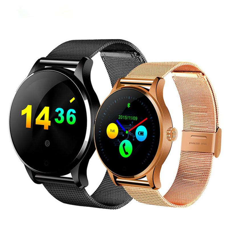 K88H Smart Watch Round Screen Support Heart Rate Monitor Bluetooth SmartWatch For Apple Huawei Xiaomi Phone IOS Android