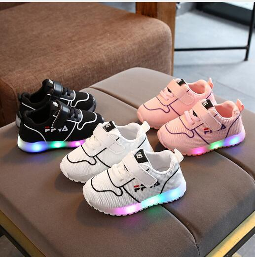 2020 новая самая продаваемая весенняя Детская обувь с подсветкой light up Shoes Boys 'little white girls' детская спортивная обувь