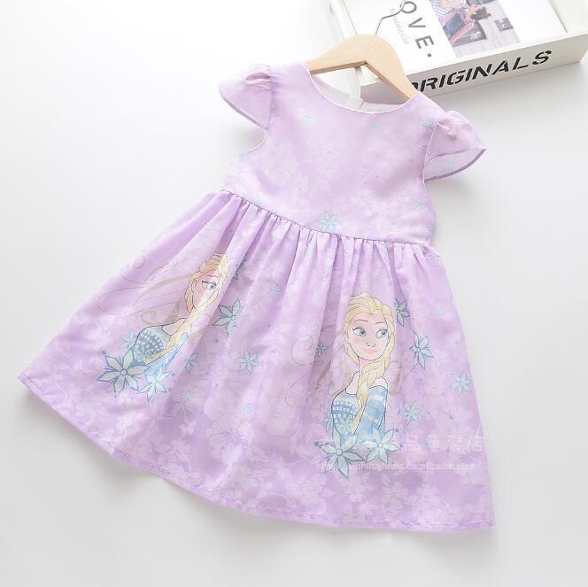 Kız Prenses Elbise 2020 Yaz Bebek Kız Çiçek Pamuk Elbise Çocuk Giyim Toptan yazdır