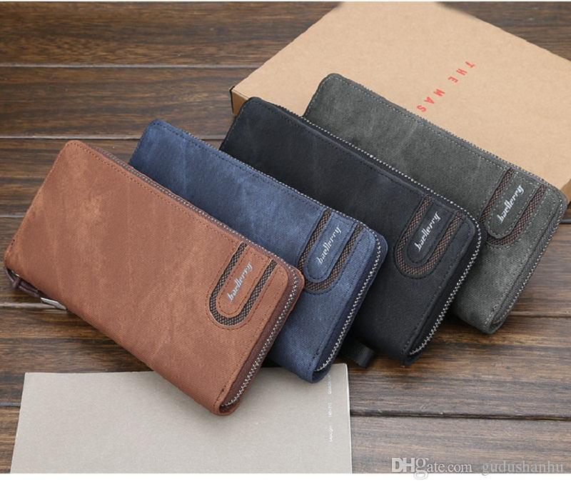 Card holder Leather Wallet men Long Design Quality passport cover Fashion Casual