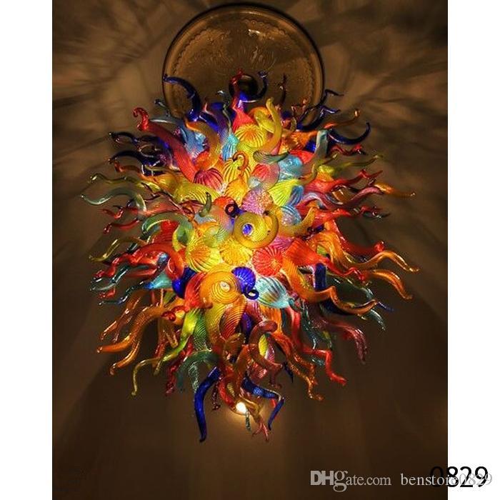 Lámparas de techo contemprary accesorio de iluminación de diseño moderno Decoración Lámparas Lámparas 100% hecho a mano de vidrio soplado Lámparas coloridas