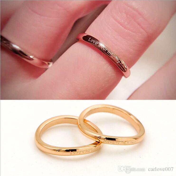 2019 novo estilo senhoras charme amor infinito anel curvo em forma especial OL salvar personalidade meninas cauda anel rosa anel de ouro