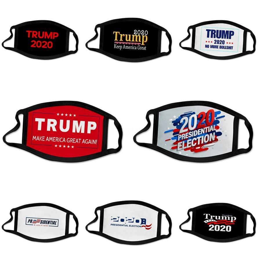 2020 Mode Hot cool Wholesale Party Designer Trump Masque adulte Divertissement Déguisements Lavable Bouche moufles Masque réutilisable coupe-vent coton n ° 85