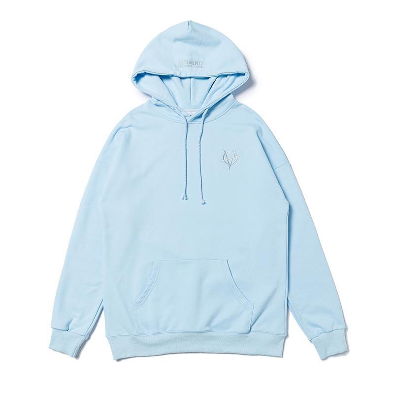 1 Frauen Männer Hoodies Top Qualität Blue Sweatshirts Stickerei Cartoon-Druck Hip Hop