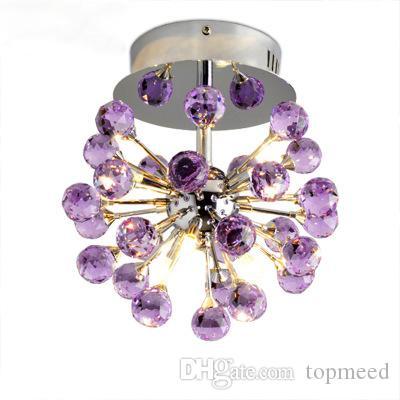 K9 LED Kristall Kronleuchter Unterputz Lampen mit 6 Lichter Lüster De Cristal Glanz De Crystal für Wohnzimmerbeleuchtung