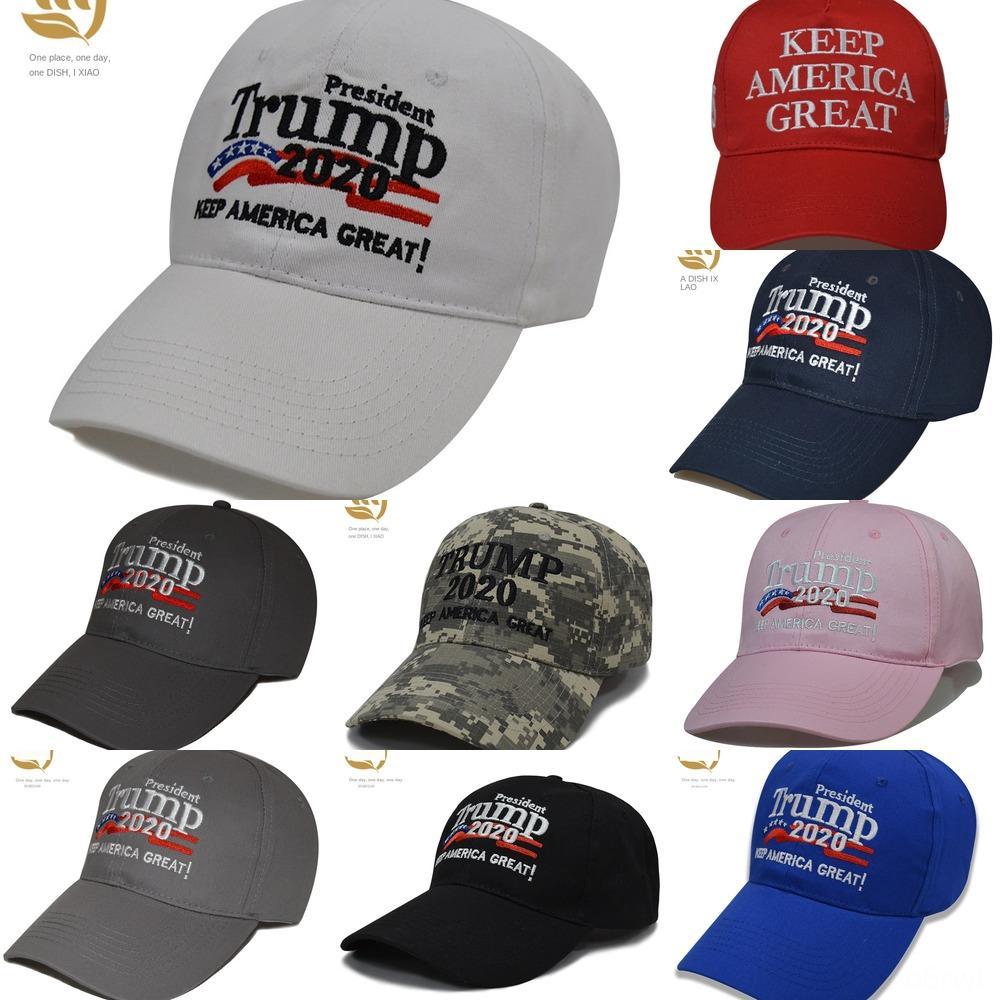 ttYoJ Nuovo 8 colori cappello da baseball Donald Trump Cap Great America Mantenere 2020 Lettera ricamo per adulti in 3D regolabile STARFLAG Snapback
