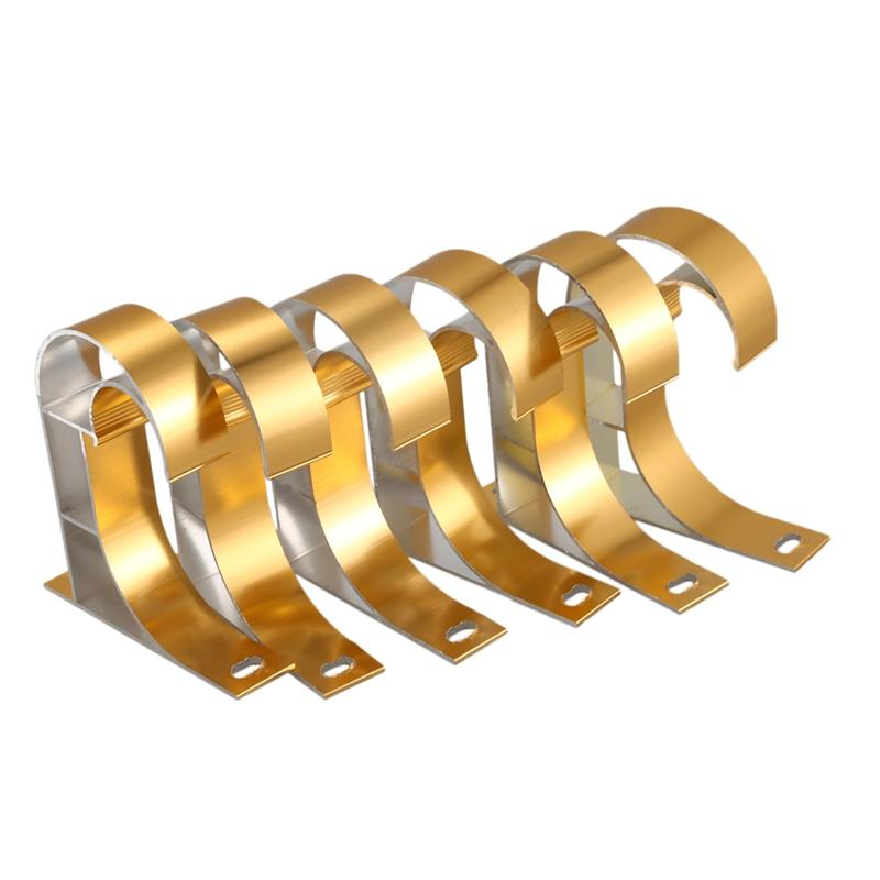 Meilleur en alliage d'aluminium Polonais Rod draperie Support Fit Drapé tringles à rideaux Porte-fenêtre fixe Modern Home Décor