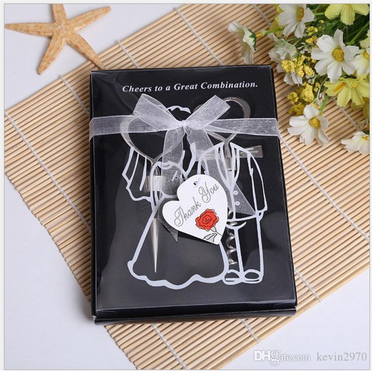 Coeur ombre Set Tire-bouchon à vin Party cadeau métal ouvreur de vin Wedding Favors cuisine Bar Outils 50pieces (25pairs) 08