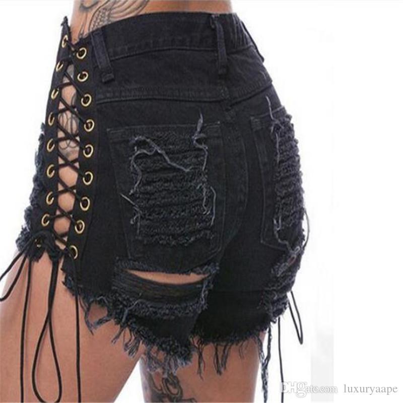 Hip Hop Hollow Summer Sexy Short Pants Women Fashion Designer Elastic Ultrashort Pant Party Nightclub Personality Female Hot Pants