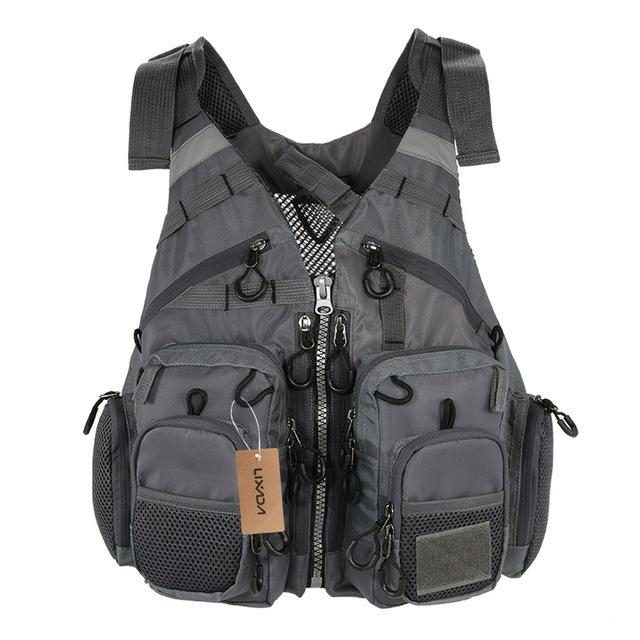 Vests Lixada Outdoor Breathable Fishing Vest Superior Bearing Life Safety Jacket Waistcoat Utility Vest Fishing Tackle