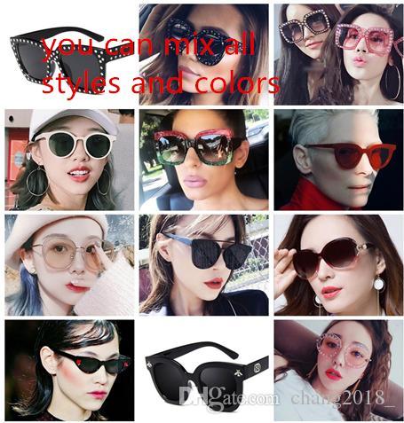 14 estilos diseñador de gafas de sol de 2019 mujeres de la manera gafas de sol hombre del diseñador de gafas para mujer mujeres hombres hombre MNYJ4-5