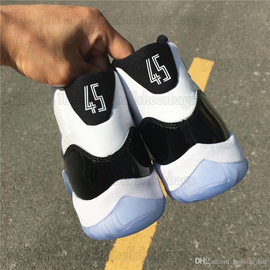 11s concord og number 45 мужская баскетбольная обувь с оригинальной коробкой кроссовки бесплатная доставка Оптовая продажа 95G8