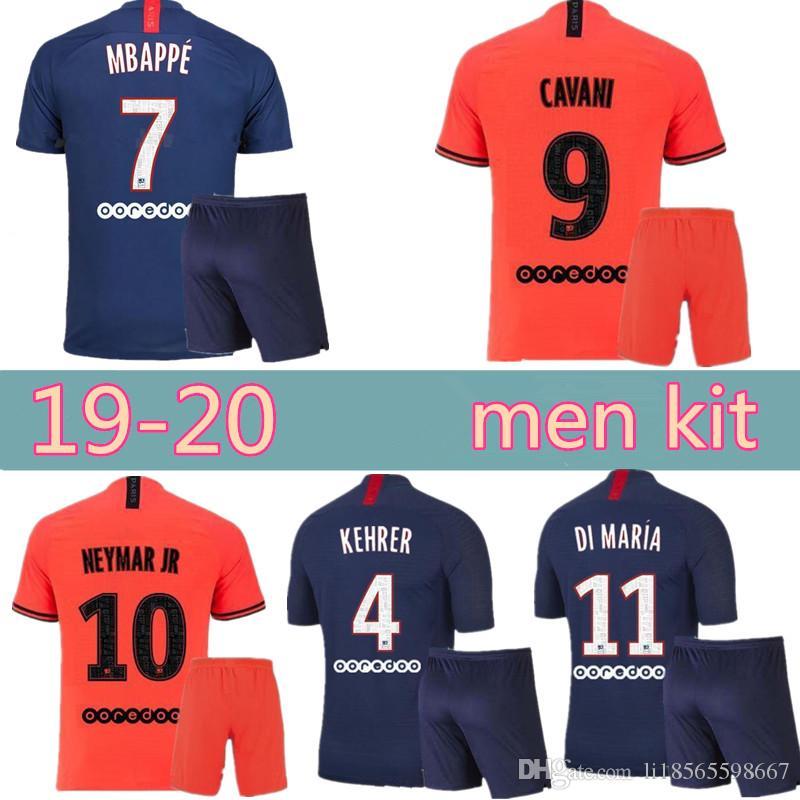 2020 Psg Soccer Jersey 2019 2020 Men Kit Uniform Paris Di Maria Mbappe Cavani Verratti Germain 19 20 Gana Icardi Home Away Third Football Shirt From Li18565598667 39 26 Dhgate Com