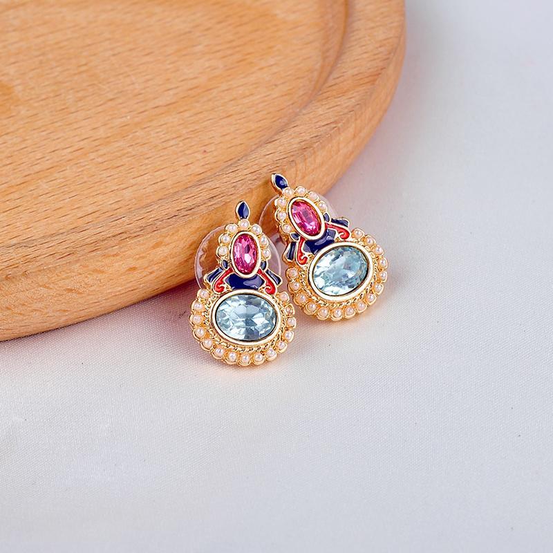 Gioielli FashionMulit-Style dello smalto di cristallo Errings per le donne Handmade della Boemia di nuovo arrivo