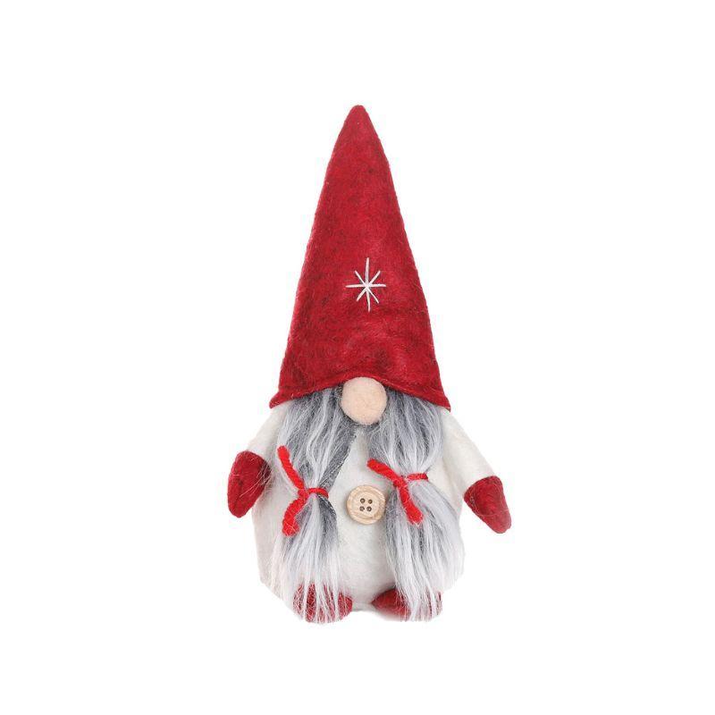 Frohe Weihnachten Stern-Hut schwedische Weihnachts Gnome Plüsch-Puppe Ornamente Handgemachtes Spielzeug Ferienhaus-Partei-Dekoration 72XF