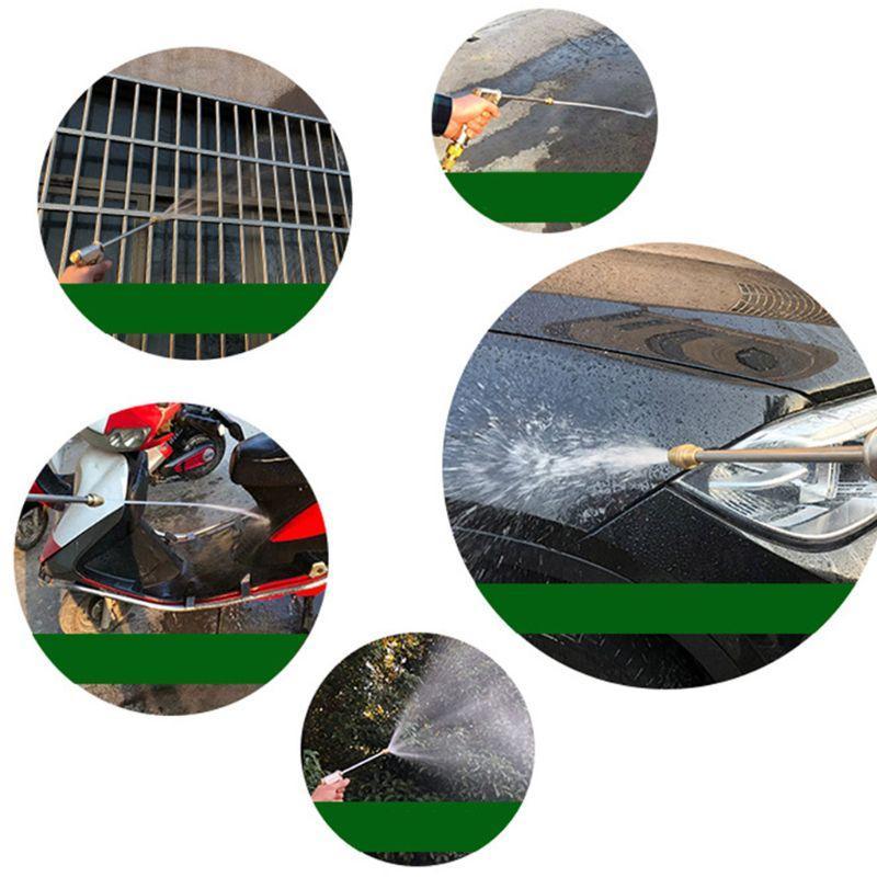 Garten Wasserschlauch Handbrause Düse-Auto-Waschmaschine Teile mit Stecker Einstellbare C6UB