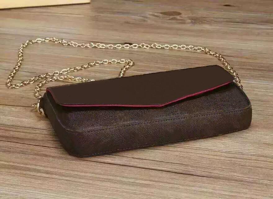 Tasarımcı-Yeni Presbiyopi Cüzdan Moda Deri Zinciri Cep Telefonu Çanta Mini Cüzdan Felicie Lady Messenger Çanta Tasarımcı Debriyaj 61276 s10