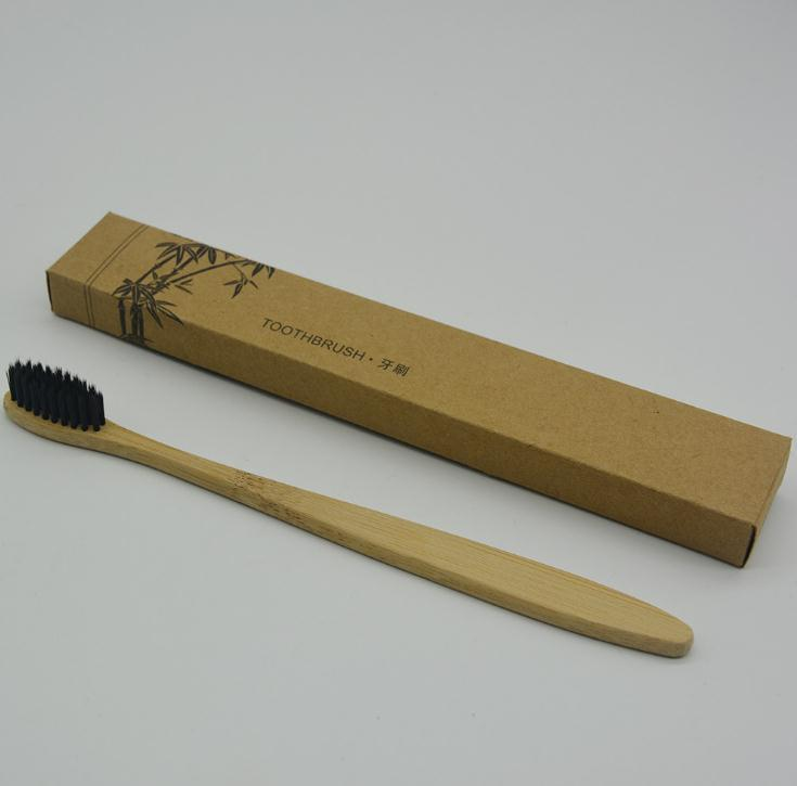 Environmental Bamboo charcoal Toothbrush Oral Care Teeth Brushes Eco Soft Nylon Capitellum Natural Brush for Hotel Travel Tooth Brush