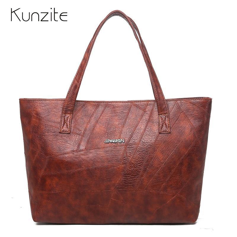 La nueva hembra bolsas grandes de cuero bolso de mano de las mujeres bolsos de las señoras Bolsos Sac principal asa superior Bolsas