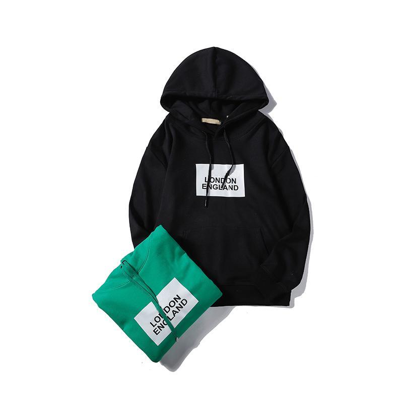 Venta al por mayor Hombres Diseñador Hoodies Primavera Otoño con capucha Letra Imprimir Londres Mujeres Blusa Deportes Casual M-2XL CE98192
