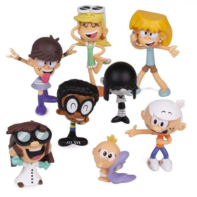 Comic Şekil Çocuk Oyuncak Sevimli Figma Set Başına 8 Adet Rakamlar Karikatür Karakter Çocuk Erkek Kız Için Sıcak Satış